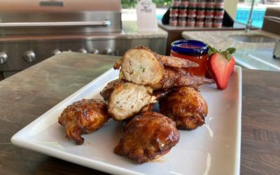 Smoked Stuffed Chicken Wings