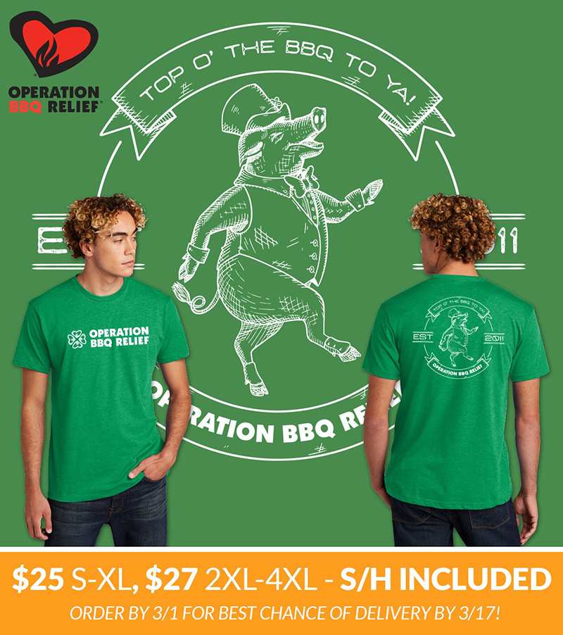 Operation BBQ Relief St. Patrick's Day T-Shirt